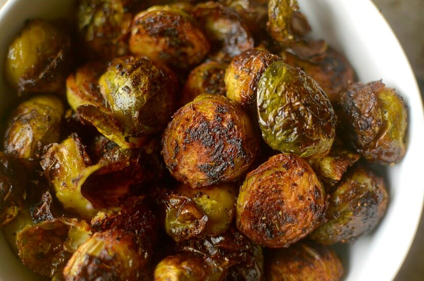 Vegan Crispy Barbecue Spiced Brussels Sprouts