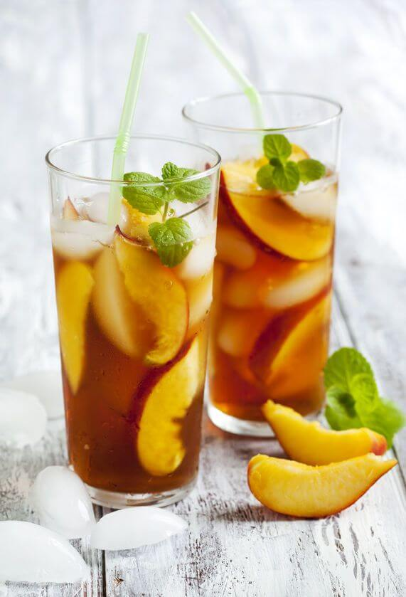 Vegan Homemade Iced Peach Tea