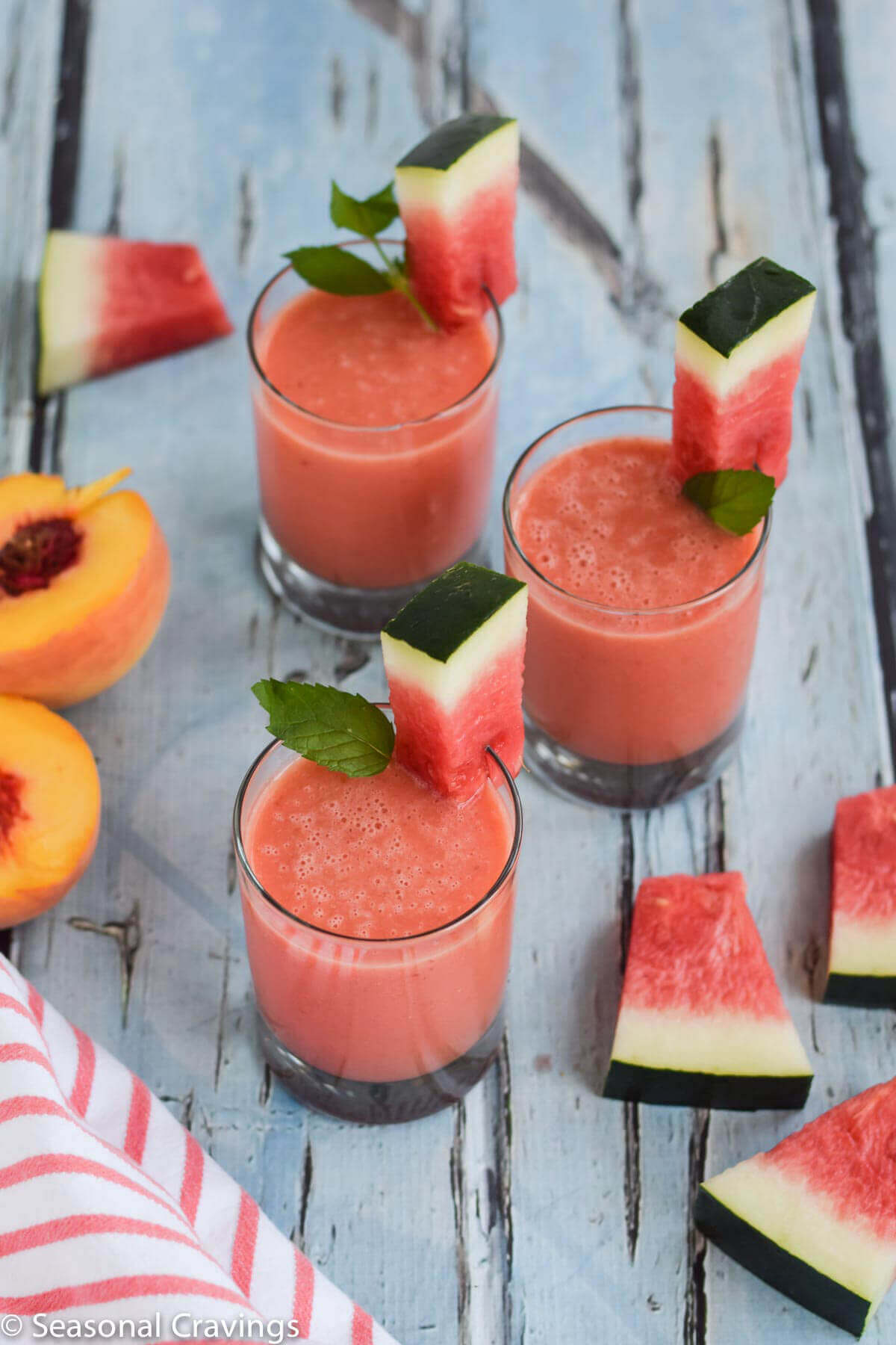 Vegan Watermelon Peach Smoothie