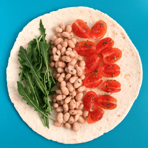 Bean Wrap - Vegan Dinner