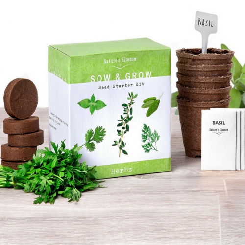 Grow Your Own Herbs Starter Kit, Best Quality - Buy at The Vegan Shop!