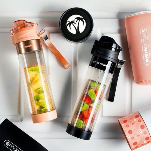 Fruit Infuser Water Bottle, Best Quality - Buy at The Vegan Shop!