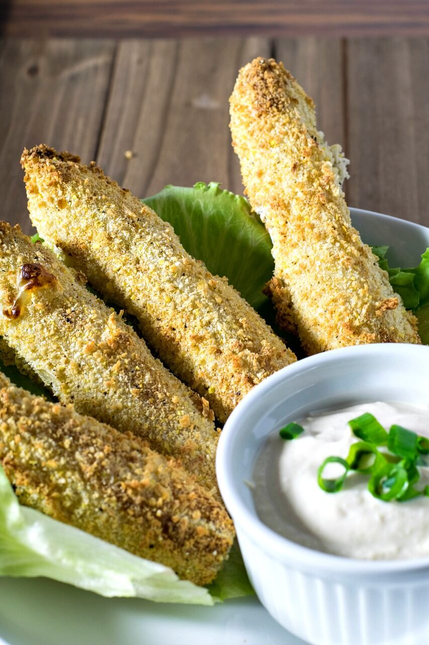 Vegan Air Fryed Pickles // | The Green Loot #vegan