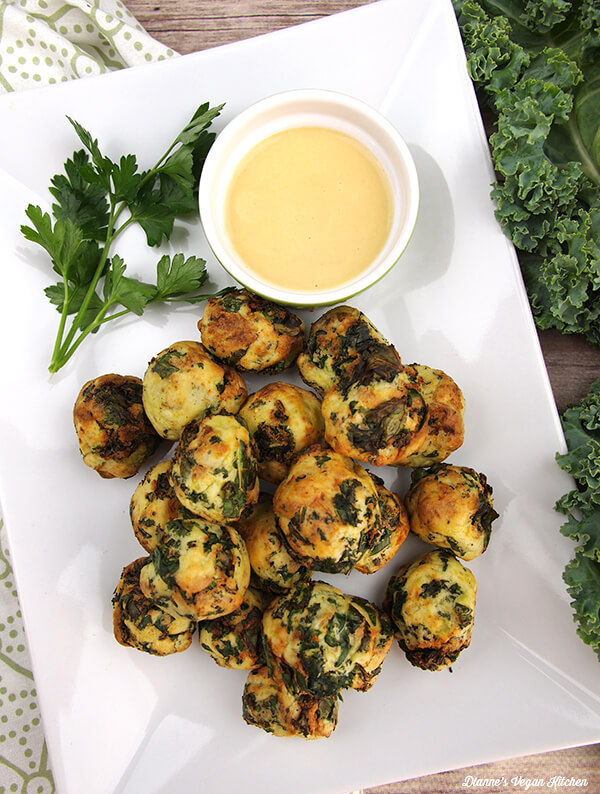 Vegan Kale and Potato Nuggets // | The Green Loot #vegan