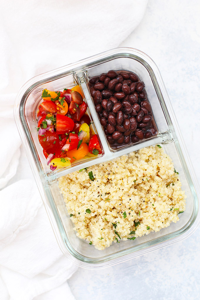 Vegan Pico de Gallo Quinoa Bowls | The Green Loot #vegan #bento