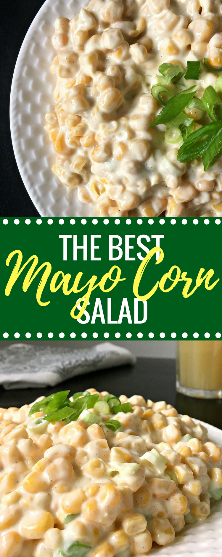 Vegan Corn Mayo Salad is the perfect egg-free and dairy-free side dish you can make in 10 minutes. Fresh, crunchy and goes well with nearly any main dish. You can serve it by itself too with a few slices of fresh bread. | The Green Loot #vegan