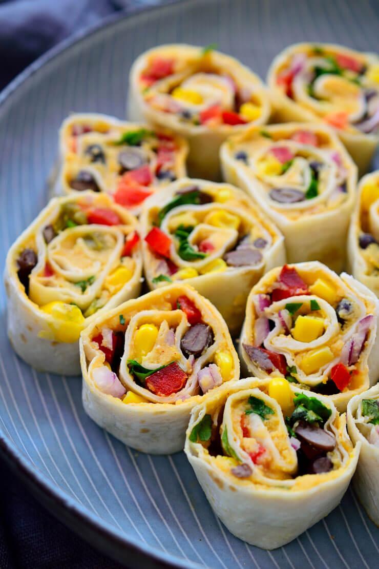 Vegan Mexican Tortilla Roll Ups