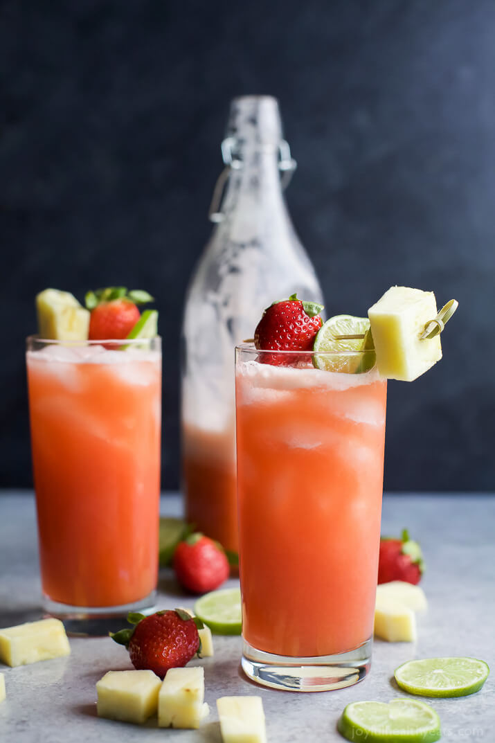 Vegan Pineapple Strawberry Agua Fresca