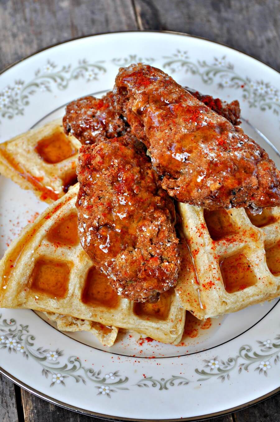 "Vegan ""Chicken"" and Waffles"