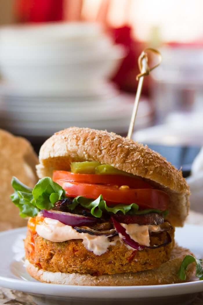 Vegan Cajun Black-Eyed Pea Burgers