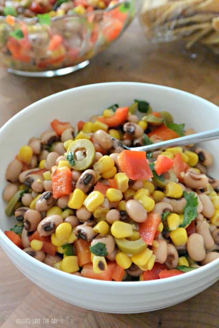 Vegan Black-Eyed Peas and Corn Salad