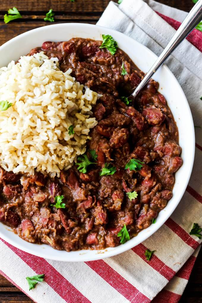 Vegan Cajun-Style Red Beans and Rice | The Green Loot #vegan