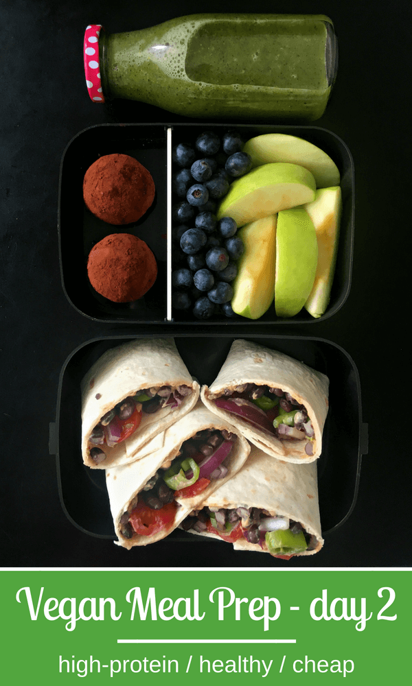 Vegan Hummus Wraps with Chocolate-Oat Protein Bites Meal Prep | thegreenloot.com #vegan #mealprep