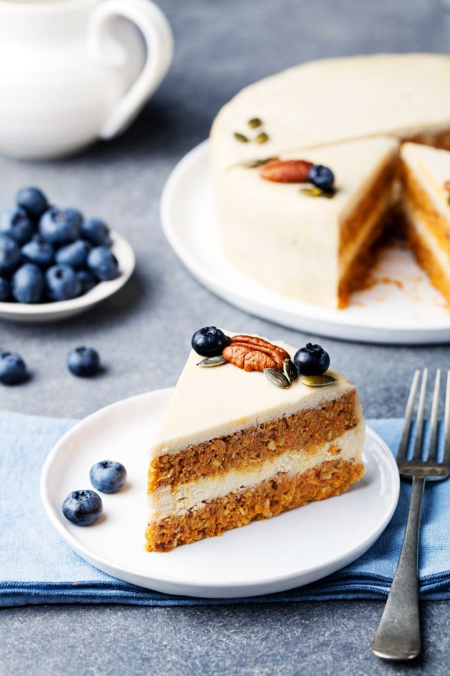 Raw Carrot Cake with Lemon Cashew Frosting