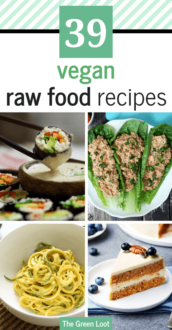 These super satisfying Raw Vegan Recipes are just as good, if not better, than cooked food. Healthy and yummy plant-based dinner and dessert recipes for your raw food cravings. | The Green Loot #raw #vegan #veganrecipes