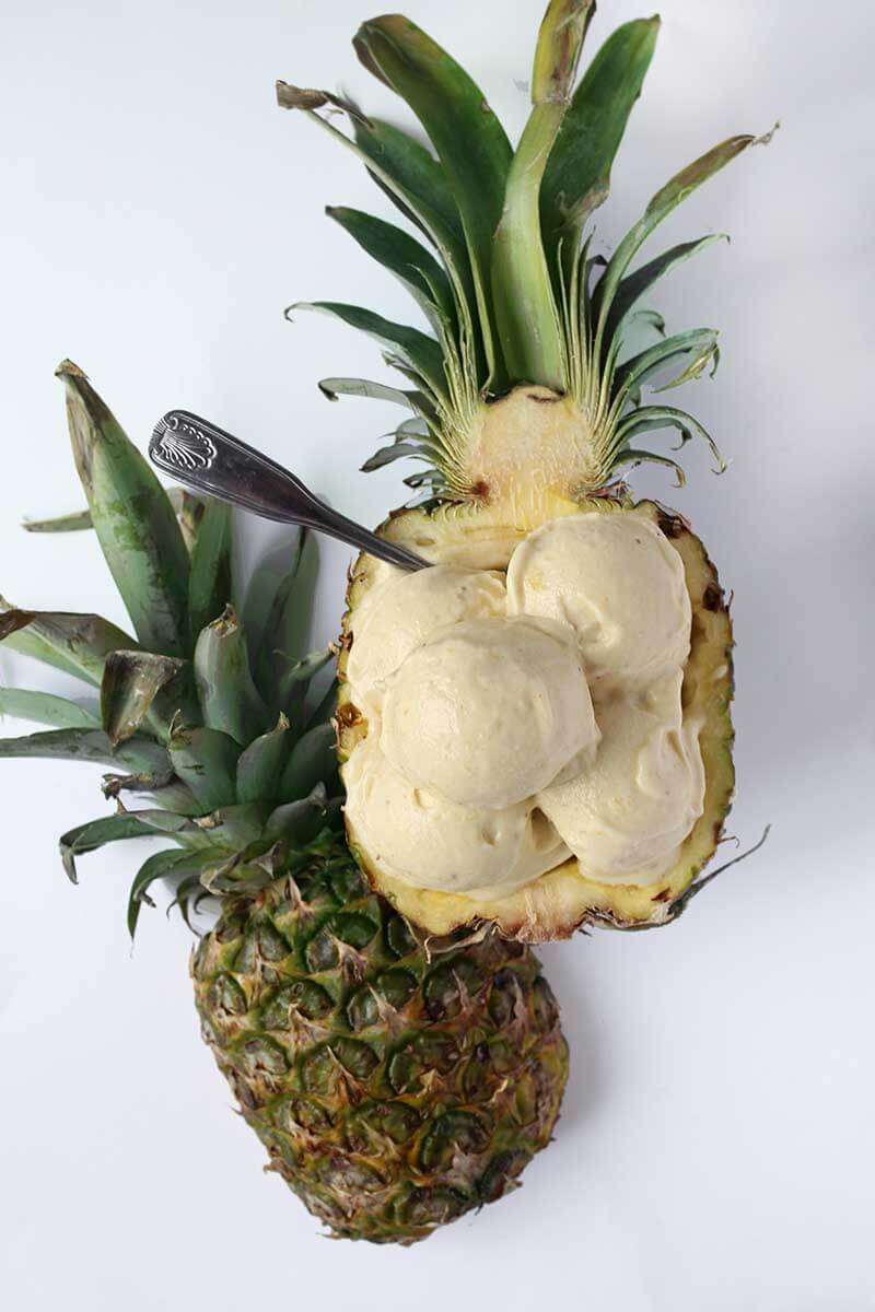 Vegan Pineapple Banana Ice Cream | #vegan #dairyfree