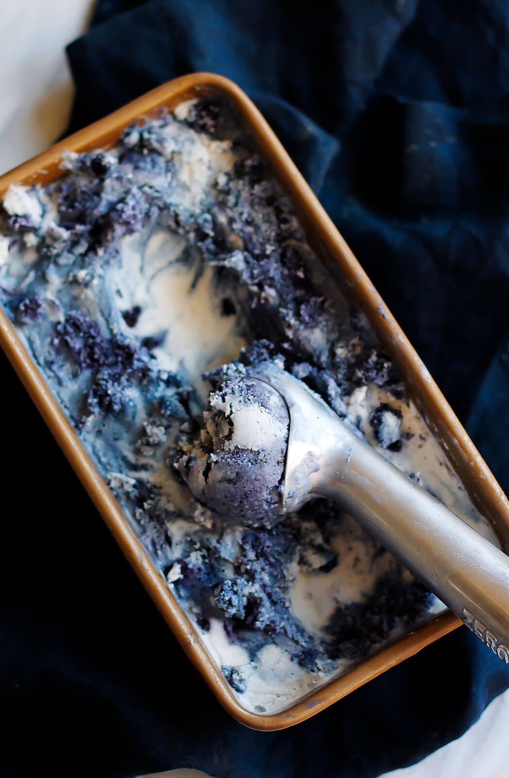 Vegan Blueberry Lavender Coconut Ice Cream