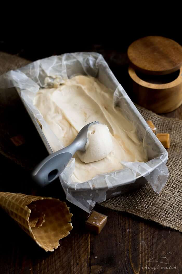 Vegan Salted Caramel Ice Cream