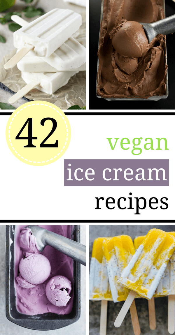 These easy Vegan Ice Cream Recipes are dairy-free and healthy, so you can cool down on the hottest Summer days without guilt. Homemade treats made from banana, coconut cream, no churn and without eggs. | The Green Loot #vegan #veganrecipes #dairyfree #Summer #icecream