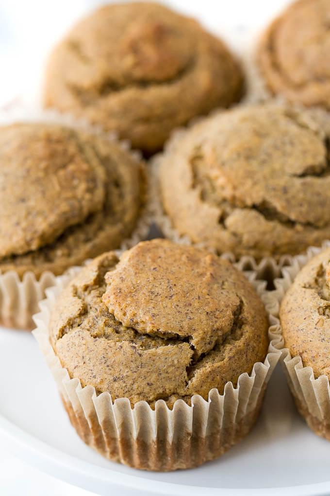 Vegan Oat Flour Almond Butter Banana Muffin