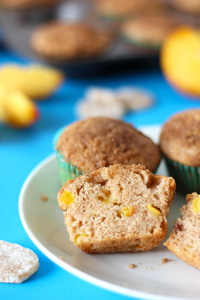 Vegan Ginger Peach Muffin
