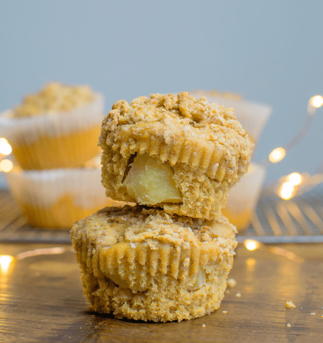 Vegan Toffee Apple Muffin | #vegan