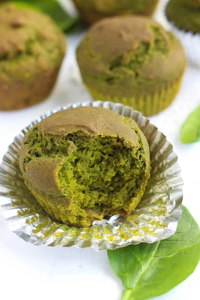 Vegan Spinach Muffin | #vegan