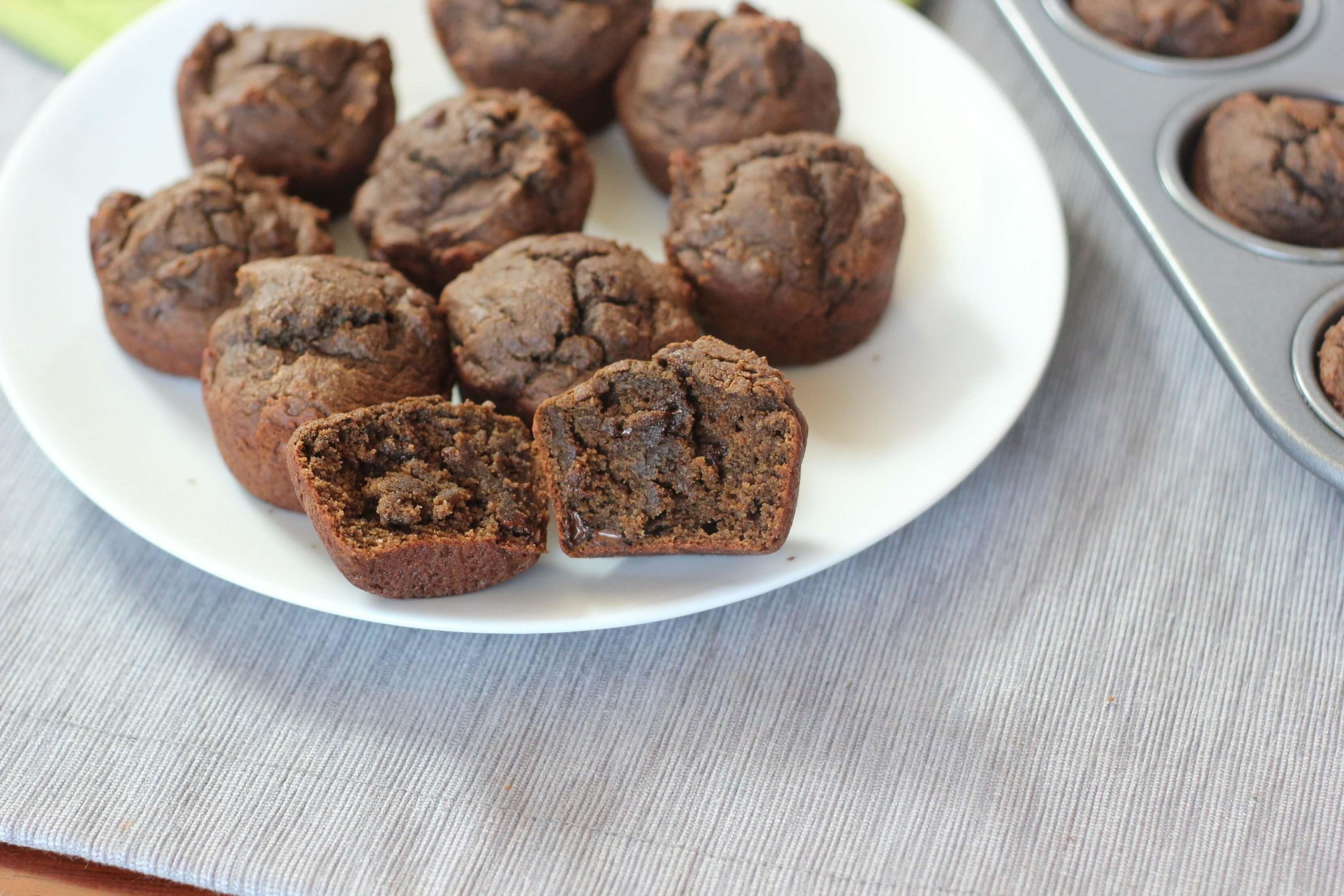 Vegan Chocolate Avocado Muffin