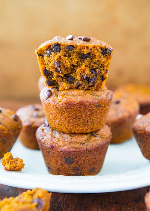 Vegan Chocolate Chip Pumpkin Muffin