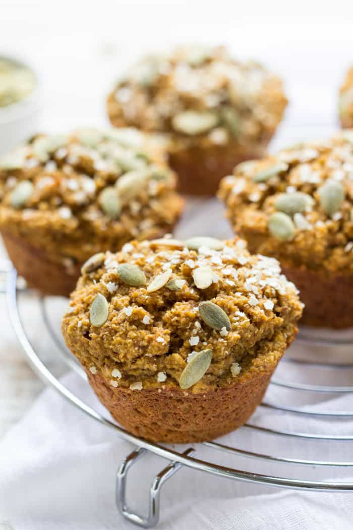 Vegan Skinny Pumpkin Quinoa Muffin | #vegan