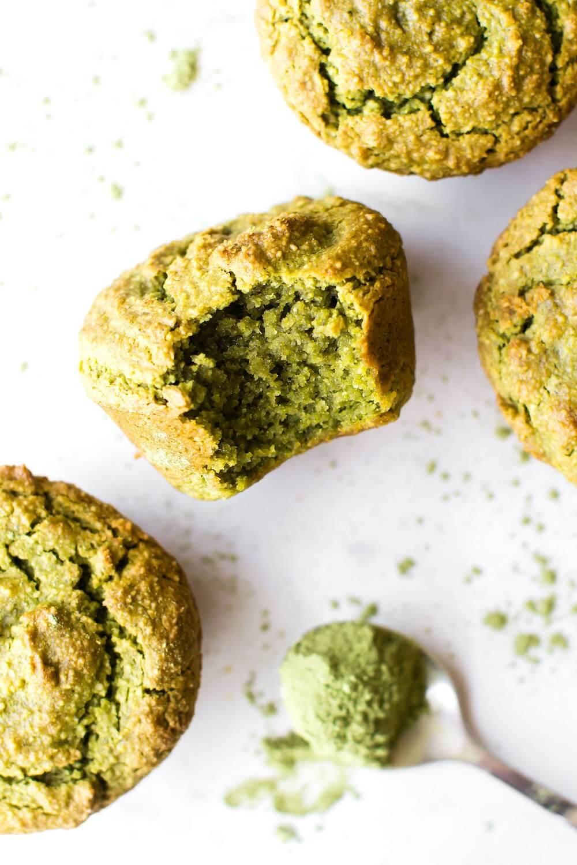 Vegan Avocado Matcha Muffin