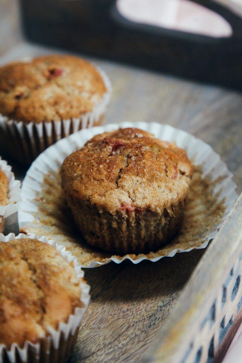Vegan Rhubarb & Ginger Muffin