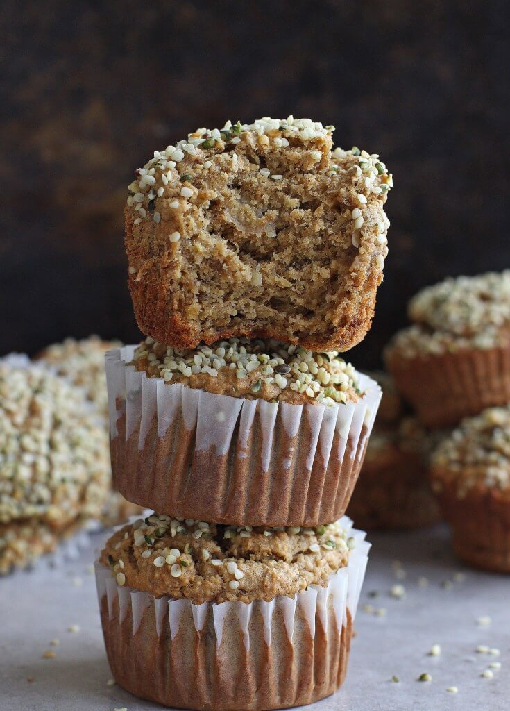 Vegan Banana Hemp Seed Muffin | #vegan