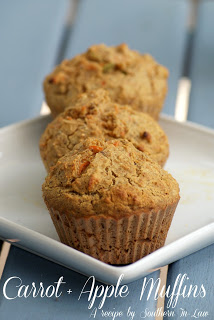 Vegan Carrot Apple Muffin | #vegan