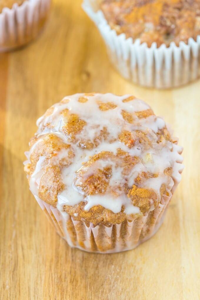 Vegan Flourless Sticky Cinnamon Bun Muffin
