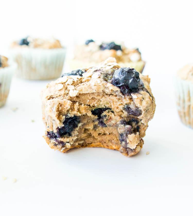 Vegan Blueberry Banana Power Muffin