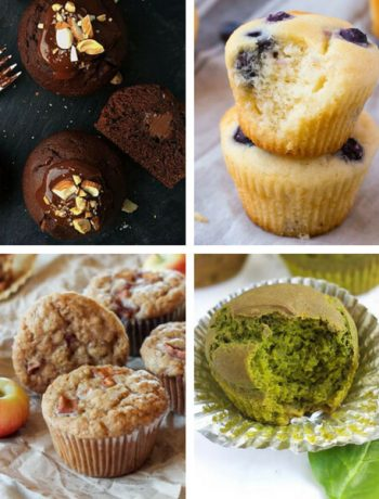 Looking for healthy Vegan Muffin Recipes? Keep reading, then! Here you'll find the best dairy-free, egg-free and guilt-free treat with chocolate, blueberry, oatmeal, banana, pumpkin, apples and so on! All perfect for breakfast or a yummy treat. Guaranteed to make your kids happy, too. | The Green Loot #vegan