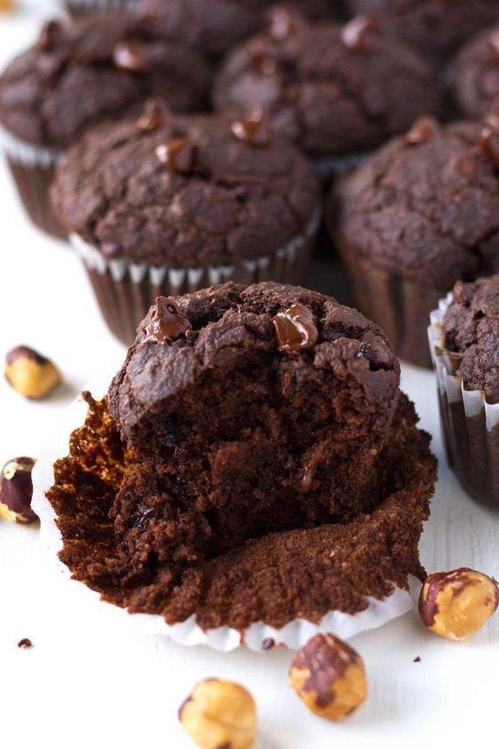 chocolate hazelnut muffin