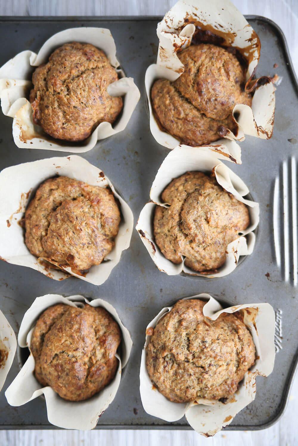 banana hemp seed muffin