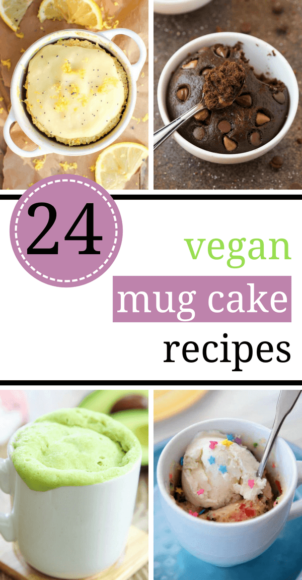 These Vegan Mug Cake Recipes are dairy free with no eggs and made in the microwave. Make these healthy desserts with vanilla, banana, chocolate, peanut butter and coconut flour. Vegan cake in a mug will be your new favorite treat as it is super easy and quick! | The Green Loot #vegan #mugcake