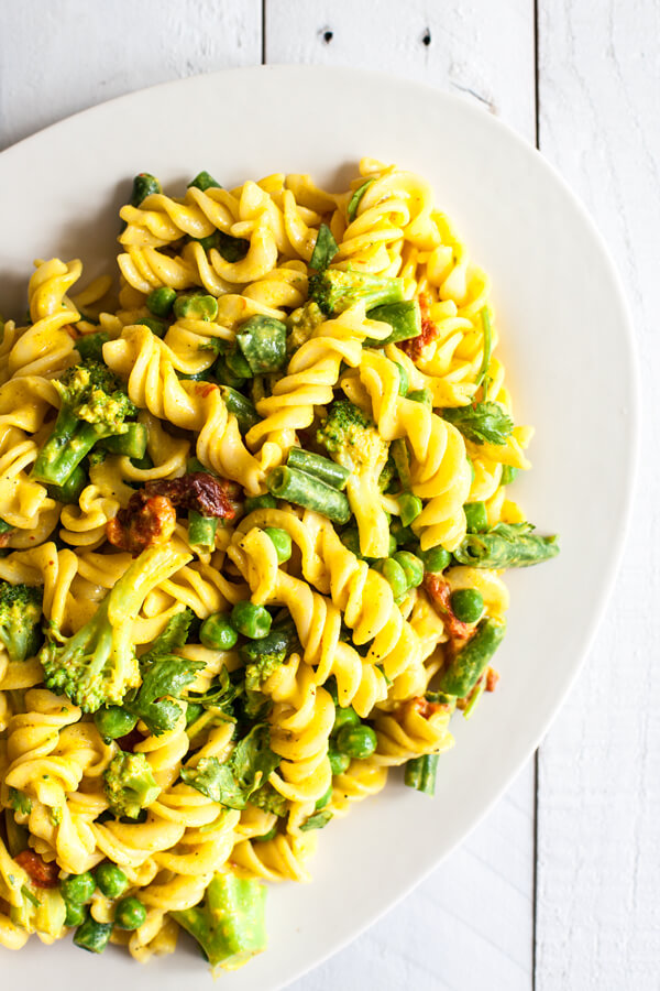 Vegan Curried Tahini Pasta Salad