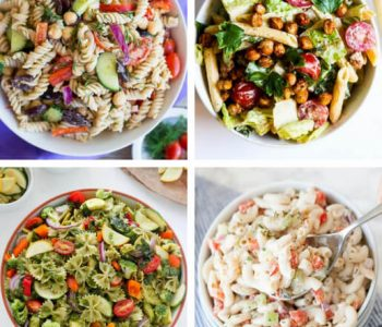 These are the best, healthy Vegan Pasta Salad Recipes. They are easy, perfect for the Summer or any season. Made with creamy dressings and veggies, you can eat these tasty meals hot or cold. | The Green Loot #vegan