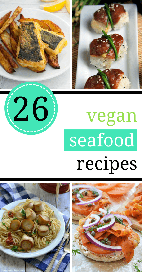 These vegan seafood recipes are a must-have for even non-vegans. Cooking a yummy sushi, chowder, seaweed or crab cakes dish without actual sea animals is the best thing you can do. Serve with tartar sauce and enjoy your tasty dinner! | The Green Loot #vegan #seafood