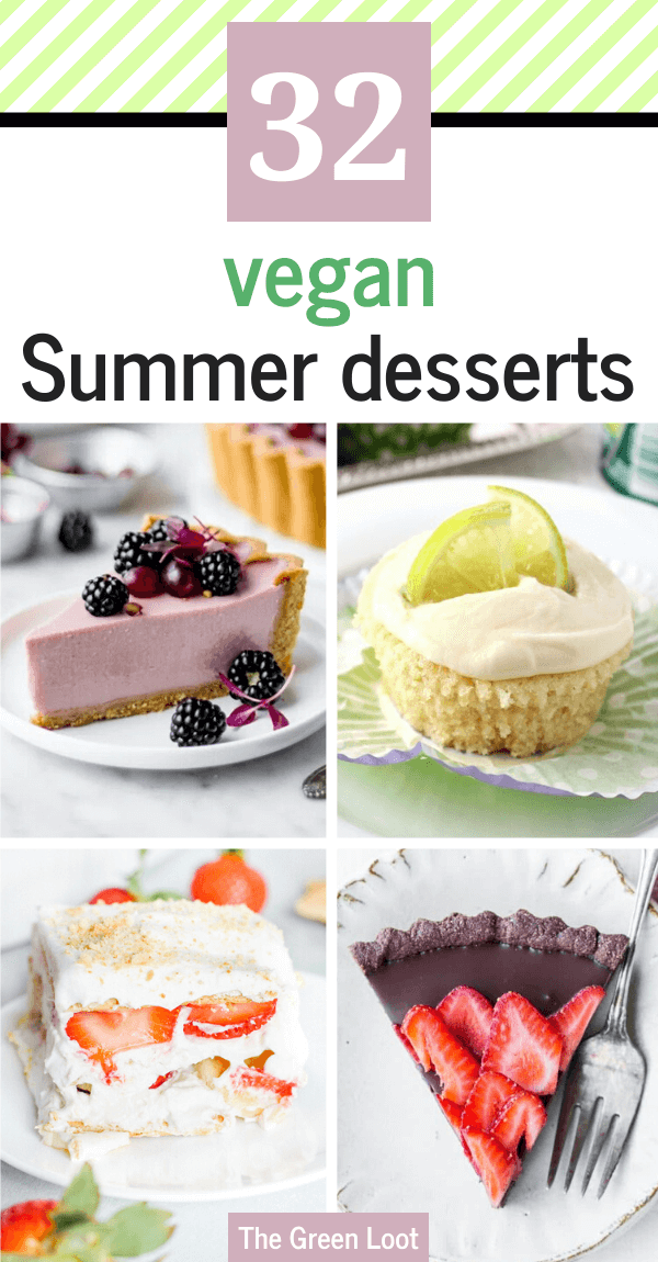 These easy Vegan Summer Dessert Recipes are light, fruity, healthy-ish and delicious! The perfect dairy-free, egg-free and no-bake treats for hot days using seasonal produce. | The Green Loot #vegan #veganrecipes