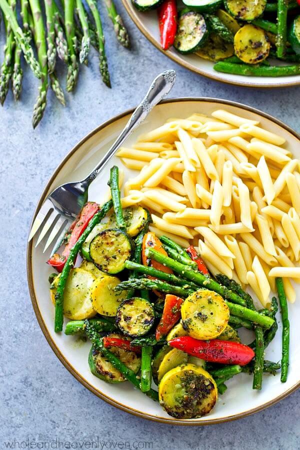 Vegan Summer Veggie Pasta