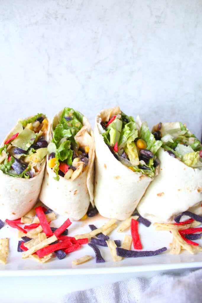 Vegan Southwest Veggie Wraps with Ranch
