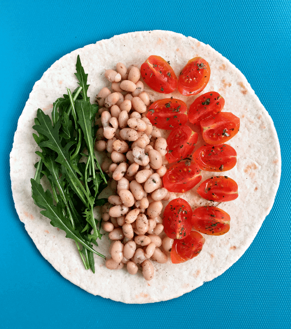 Vegan Bean Wrap | #vegan