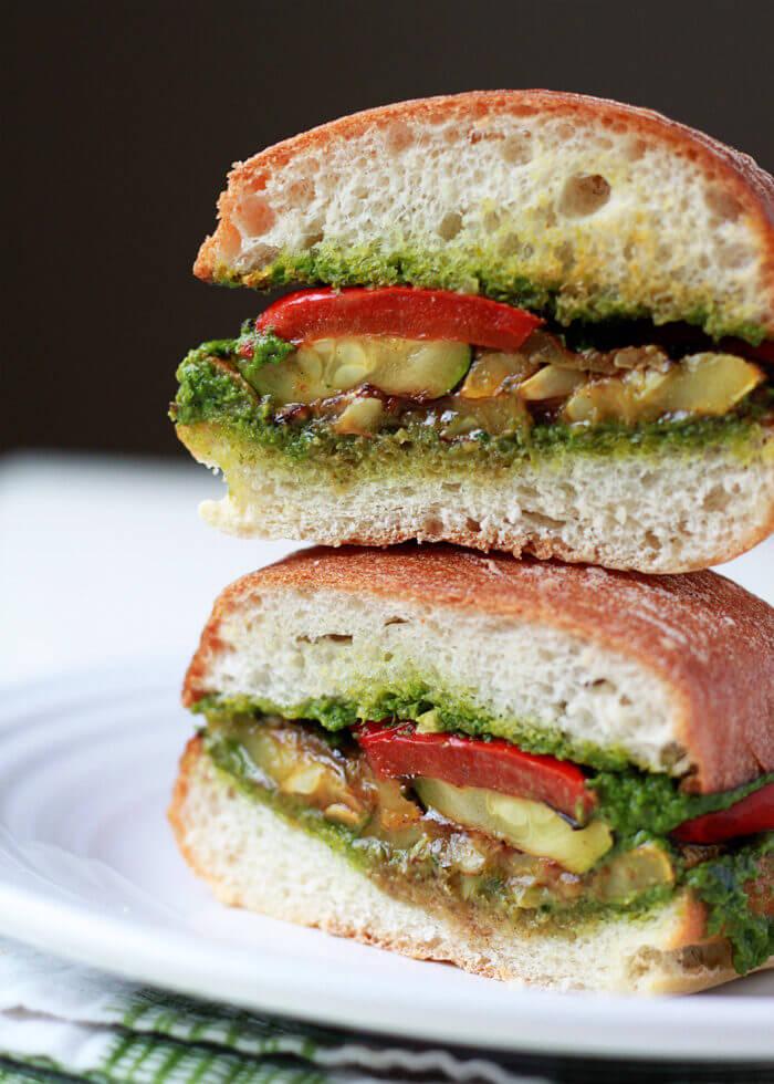 Summer squash sandwich