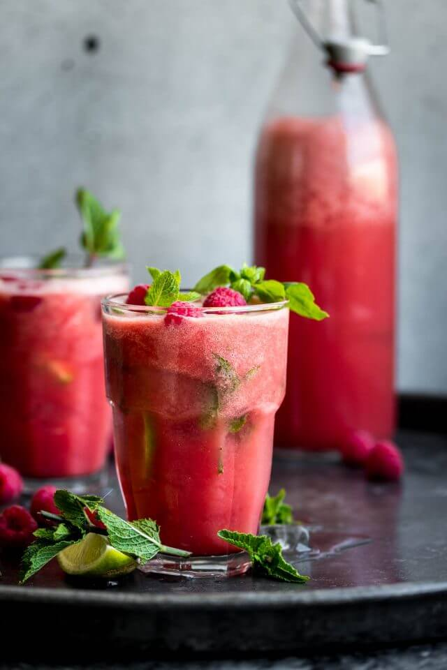 Vegan Watermelon Basil Cooler