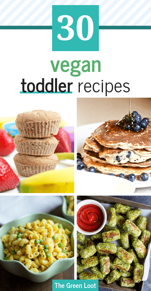These Vegan Toddler Recipes are super healthy, refined sugar-free and children approved. Make your little ones a tasty meal or snack, filled with nutritious fruits and veggies. Even the most picky eaters will love them! | The Green Loot #vegan #veganrecipes